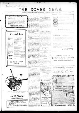 Primary view of object titled 'The Dover News. (Dover, Okla.), Vol. 12, No. 49, Ed. 2 Thursday, February 6, 1913'.