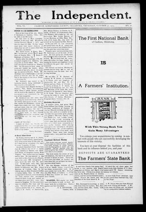 Primary view of object titled 'The Independent. (Cashion, Okla.), Vol. 6, No. 26, Ed. 1 Thursday, October 30, 1913'.