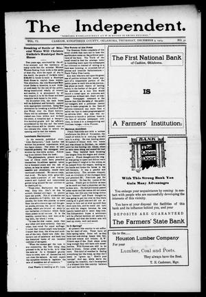 Primary view of object titled 'The Independent. (Cashion, Okla.), Vol. 6, No. 31, Ed. 1 Thursday, December 4, 1913'.