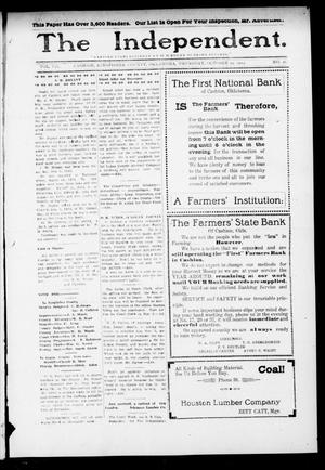 Primary view of object titled 'The Independent. (Cashion, Okla.), Vol. 7, No. 26, Ed. 1 Thursday, October 29, 1914'.