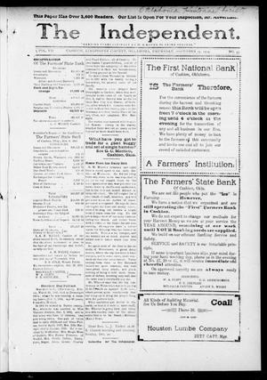 Primary view of object titled 'The Independent. (Cashion, Okla.), Vol. 7, No. 33, Ed. 1 Thursday, December 17, 1914'.