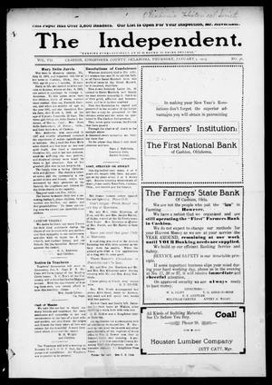 Primary view of object titled 'The Independent. (Cashion, Okla.), Vol. 7, No. 36, Ed. 1 Thursday, January 7, 1915'.