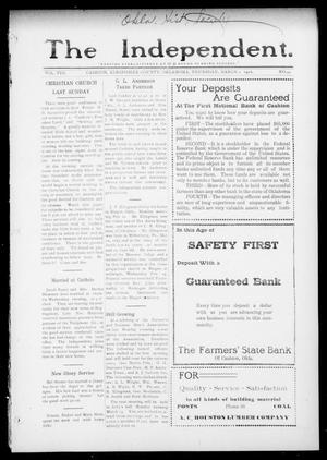 Primary view of object titled 'The Independent. (Cashion, Okla.), Vol. 8, No. 44, Ed. 1 Thursday, March 2, 1916'.