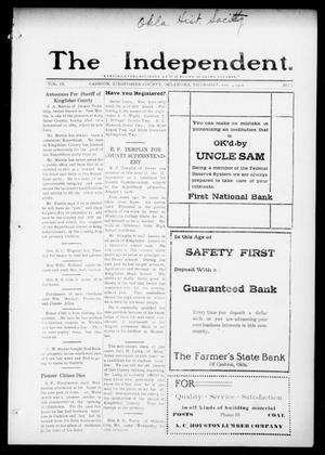 The Independent. (Cashion, Okla.), Vol. 9, No. 1, Ed. 1 Thursday, May 4, 1916
