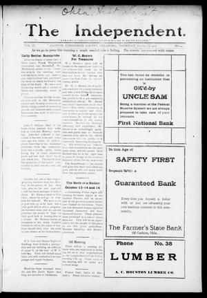 Primary view of object titled 'The Independent. (Cashion, Okla.), Vol. 9, No. 24, Ed. 1 Thursday, October 12, 1916'.