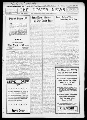 Primary view of object titled 'The Dover News (Dover, Okla.), Vol. 18, No. 10, Ed. 1 Thursday, August 1, 1918'.