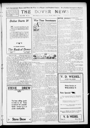 Primary view of object titled 'The Dover News (Dover, Okla.), Vol. 18, No. 13, Ed. 1 Thursday, August 22, 1918'.