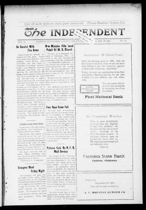 Primary view of object titled 'The Independent. (Cashion, Okla.), Vol. 11, No. 31, Ed. 1 Thursday, November 28, 1918'.