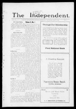 Primary view of object titled 'The Independent. (Cashion, Okla.), Vol. 12, No. 1, Ed. 1 Thursday, May 1, 1919'.