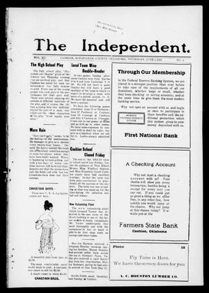 The Independent. (Cashion, Okla.), Vol. 12, No. 6, Ed. 1 Thursday, June 5, 1919