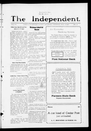 Primary view of object titled 'The Independent. (Cashion, Okla.), Vol. 12, No. 14, Ed. 1 Thursday, July 31, 1919'.