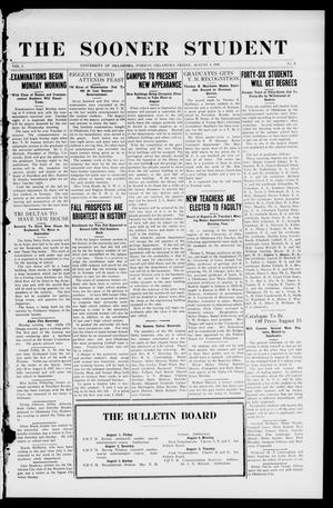 The Sooner Student (Norman, Okla.), Vol. 1, No. 8, Ed. 1 Friday, August 1, 1919