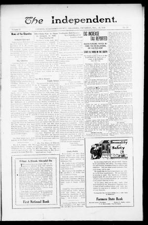 Primary view of object titled 'The Independent. (Cashion, Okla.), Vol. 13, No. 29, Ed. 1 Thursday, November 25, 1920'.