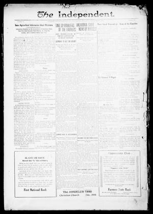 Primary view of object titled 'The Independent. (Cashion, Okla.), Vol. 13, No. 31, Ed. 1 Thursday, December 9, 1920'.