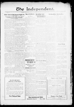 Primary view of object titled 'The Independent. (Cashion, Okla.), Vol. 13, No. 32, Ed. 1 Thursday, December 16, 1920'.