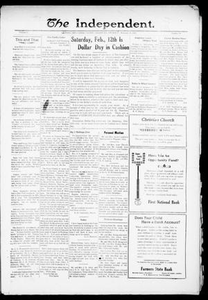 Primary view of object titled 'The Independent. (Cashion, Okla.), Vol. 13, No. 40, Ed. 1 Thursday, February 10, 1921'.