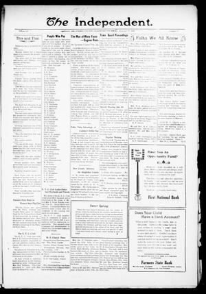 Primary view of object titled 'The Independent. (Cashion, Okla.), Vol. 13, No. 41, Ed. 1 Thursday, February 17, 1921'.