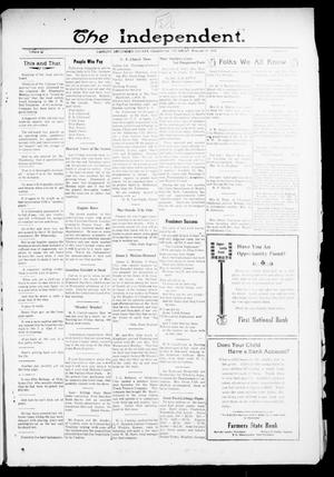 Primary view of object titled 'The Independent. (Cashion, Okla.), Vol. 13, No. 42, Ed. 1 Thursday, February 24, 1921'.