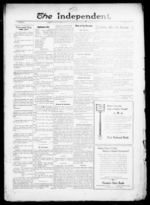 Primary view of object titled 'The Independent. (Cashion, Okla.), Vol. 13, No. 43, Ed. 1 Thursday, March 3, 1921'.