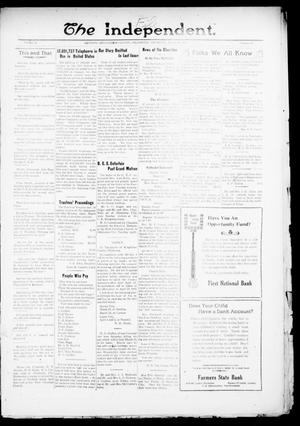 Primary view of object titled 'The Independent. (Cashion, Okla.), Vol. 13, No. 44, Ed. 1 Thursday, March 10, 1921'.
