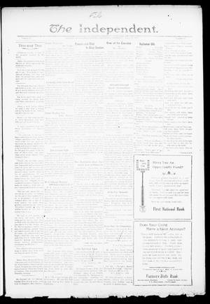 Primary view of object titled 'The Independent. (Cashion, Okla.), Vol. 13, No. 47, Ed. 1 Thursday, March 31, 1921'.