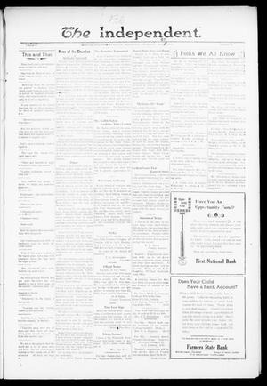 Primary view of object titled 'The Independent. (Cashion, Okla.), Vol. 13, No. 50, Ed. 1 Thursday, April 21, 1921'.
