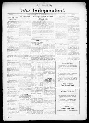 Primary view of object titled 'The Independent. (Cashion, Okla.), Vol. 13, No. 52, Ed. 1 Thursday, May 5, 1921'.