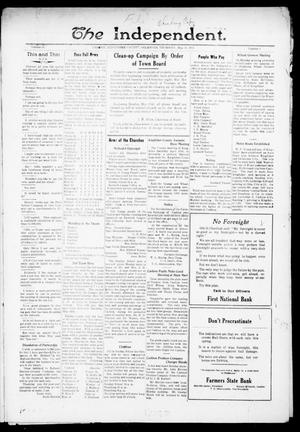 Primary view of object titled 'The Independent. (Cashion, Okla.), Vol. 14, No. 1, Ed. 1 Thursday, May 12, 1921'.