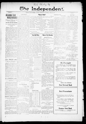 Primary view of object titled 'The Independent. (Cashion, Okla.), Vol. 14, No. 2, Ed. 1 Thursday, May 19, 1921'.