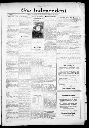 Primary view of object titled 'The Independent. (Cashion, Okla.), Vol. 14, No. 3, Ed. 1 Thursday, May 26, 1921'.