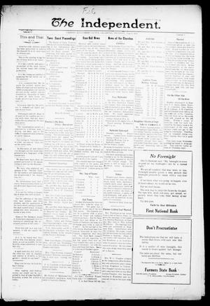Primary view of object titled 'The Independent. (Cashion, Okla.), Vol. 14, No. 5, Ed. 1 Thursday, June 9, 1921'.