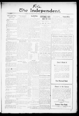 Primary view of object titled 'The Independent. (Cashion, Okla.), Vol. 14, No. 7, Ed. 1 Thursday, June 23, 1921'.