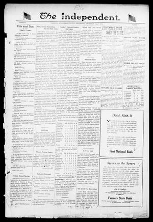 Primary view of object titled 'The Independent. (Cashion, Okla.), Vol. 14, No. 9, Ed. 1 Thursday, July 7, 1921'.