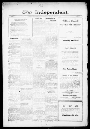 Primary view of object titled 'The Independent. (Cashion, Okla.), Vol. 14, No. 17, Ed. 1 Thursday, September 1, 1921'.