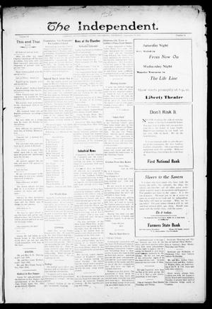 Primary view of object titled 'The Independent. (Cashion, Okla.), Vol. 14, No. 21, Ed. 1 Thursday, September 29, 1921'.