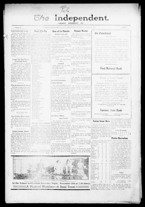 Primary view of object titled 'The Independent. (Cashion, Okla.), Vol. 14, No. 26, Ed. 1 Thursday, November 3, 1921'.