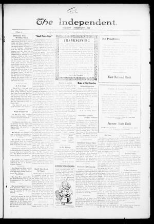 Primary view of object titled 'The Independent. (Cashion, Okla.), Vol. 14, No. 29, Ed. 1 Thursday, November 24, 1921'.