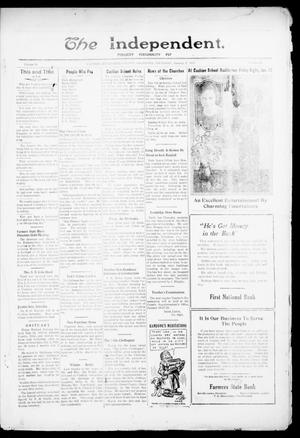 Primary view of object titled 'The Independent. (Cashion, Okla.), Vol. 14, No. 36, Ed. 1 Thursday, January 12, 1922'.