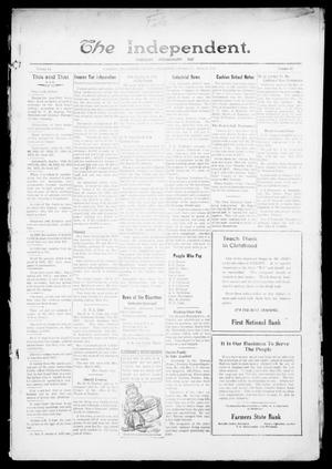 Primary view of object titled 'The Independent. (Cashion, Okla.), Vol. 14, No. 43, Ed. 1 Thursday, March 2, 1922'.