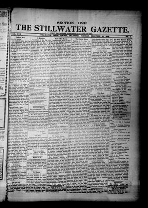 Primary view of object titled 'The Stillwater Gazette. (Stillwater, Okla.), Vol. 17, No. 2, Ed. 1 Tuesday, December 26, 1905'.