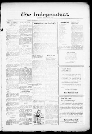 Primary view of object titled 'The Independent. (Cashion, Okla.), Vol. 14, No. 50, Ed. 1 Thursday, April 20, 1922'.