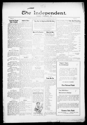 Primary view of object titled 'The Independent. (Cashion, Okla.), Vol. 14, No. 52, Ed. 1 Thursday, May 4, 1922'.