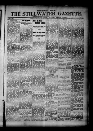 Primary view of object titled 'The Stillwater Gazette. (Stillwater, Okla.), Vol. 16, No. 45, Ed. 1 Tuesday, October 24, 1905'.