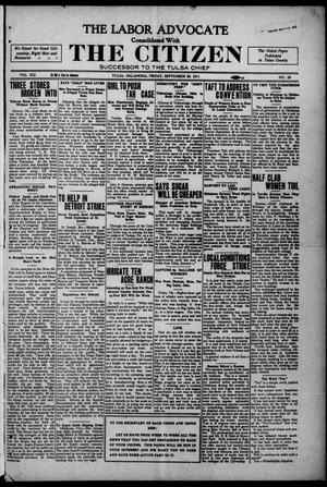 Primary view of object titled 'The Labor Advocate Consolidated With The Citizen (Tulsa, Okla.), Vol. 11, No. 28, Ed. 1 Friday, September 29, 1911'.