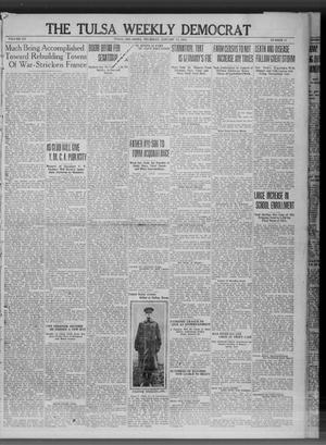 Primary view of object titled 'The Tulsa Weekly Democrat (Tulsa, Okla.), Vol. 20, No. 37, Ed. 1 Thursday, January 17, 1918'.