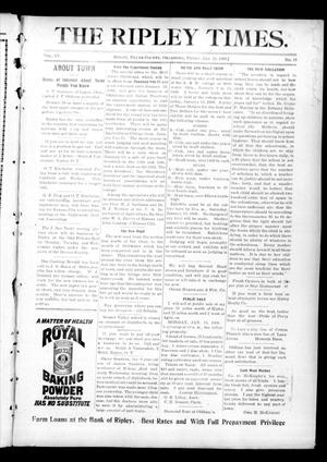 Primary view of object titled 'The Ripley Times. (Ripley, Okla.), Vol. 6, No. 15, Ed. 1 Friday, January 12, 1906'.