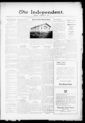 Primary view of object titled 'The Independent. (Cashion, Okla.), Vol. 15, No. 11, Ed. 1 Thursday, July 20, 1922'.