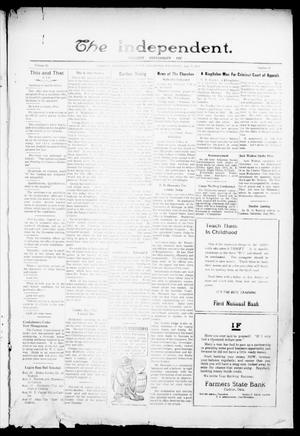 Primary view of object titled 'The Independent. (Cashion, Okla.), Vol. 15, No. 12, Ed. 1 Thursday, July 27, 1922'.