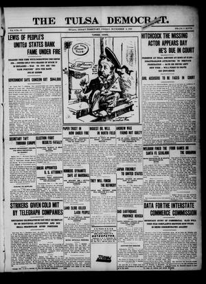 Primary view of object titled 'The Tulsa Democrat. (Tulsa, Indian Terr.), Vol. 8, No. 45, Ed. 1 Friday, November 8, 1907'.