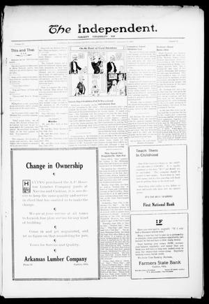 Primary view of object titled 'The Independent. (Cashion, Okla.), Vol. 15, No. 19, Ed. 1 Thursday, September 14, 1922'.